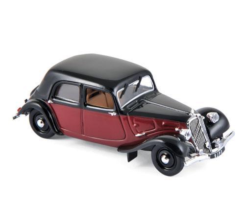 Modelisme Vieille voiture - Norev 153050 Citroen 11cv rouge et noir