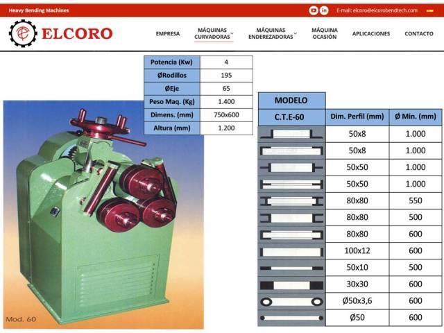 Curvadora ELCORO - CTE 60