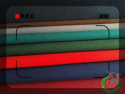 Poliester / bombaž 14x14 245GSM 2/1 twill Tkanine za delovna - Dobro krčenje , Lepa površina , Oekotex Certifikat , Manj pomanjkljivosti
