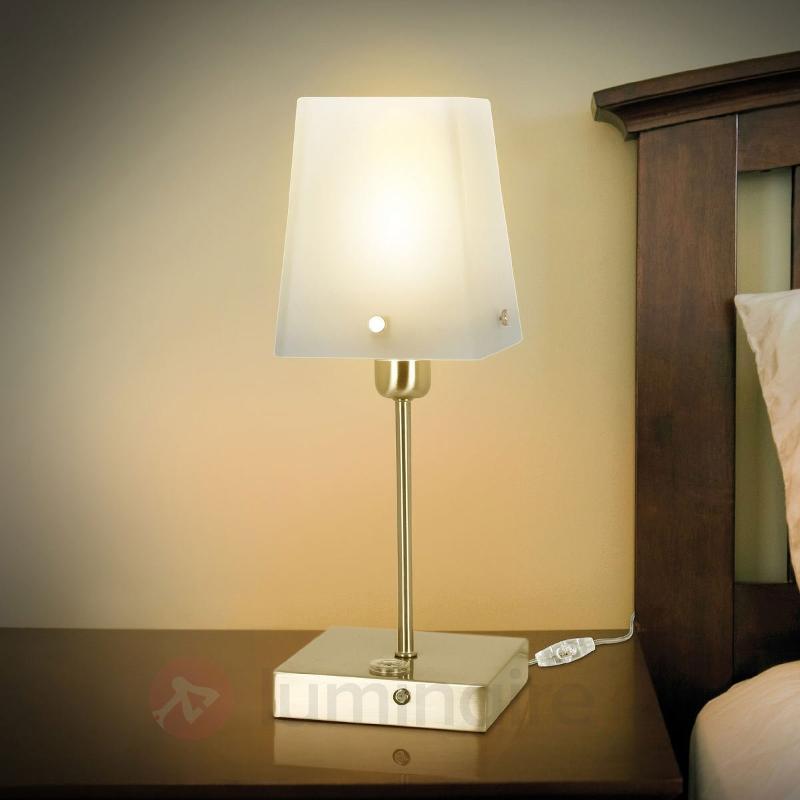 Lampe à poser économique HOZON pied carré - Lampes de chevet