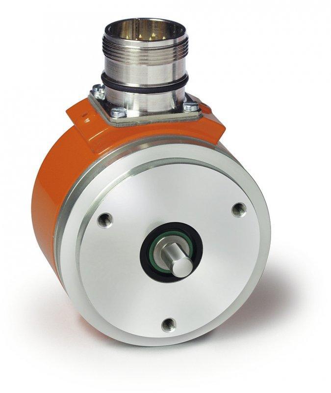 Trasduttore incrementale IV58M - Trasduttore incrementale IV58M, Corpo in alluminio ad albero cavo passante