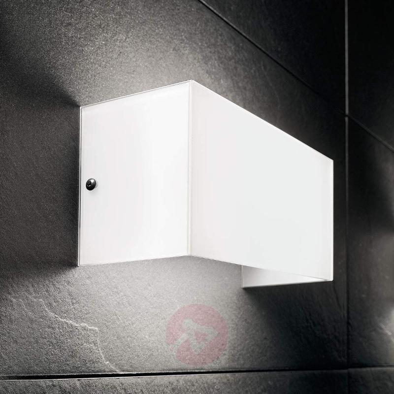 LED wall light Compact, 20 cm wide - Wall Lights