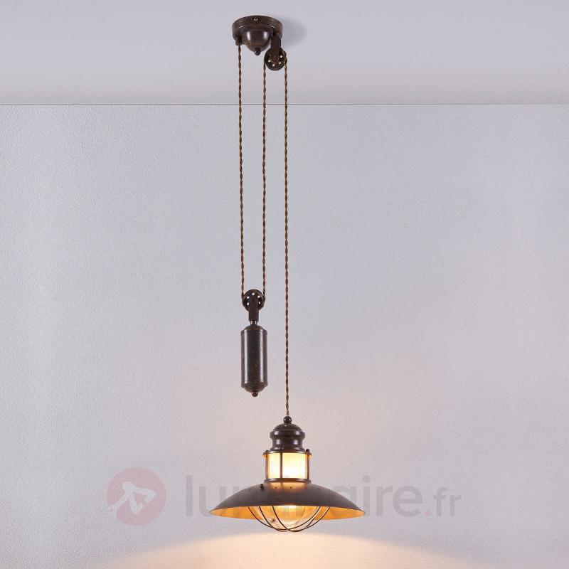 Suspension à câble réglable en hauteur Louisanne - Suspensions rustiques