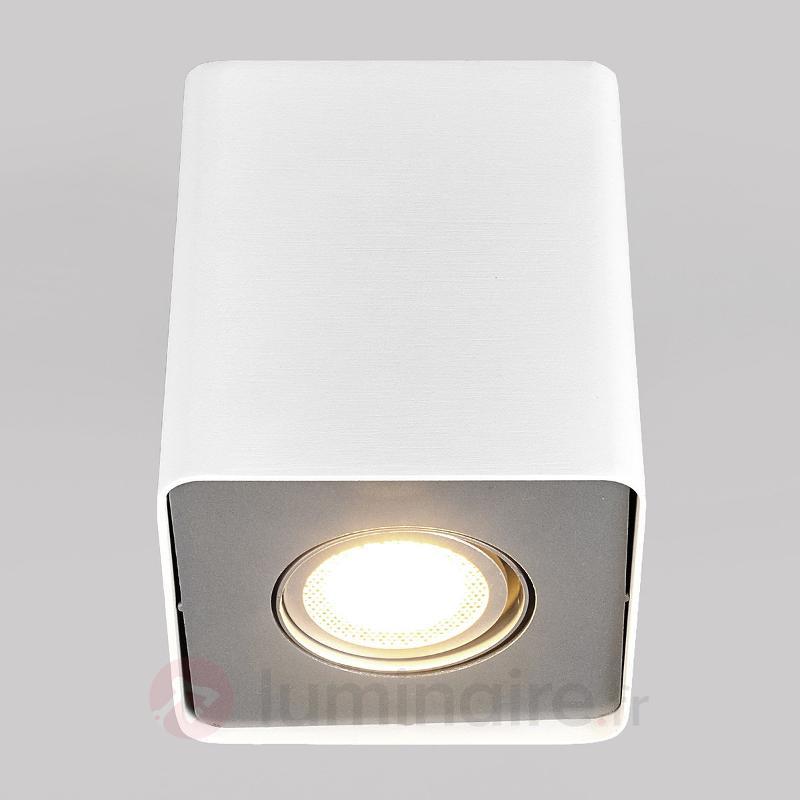 Downlight carré LED GU10 Giliano, blanc - Plafonniers LED