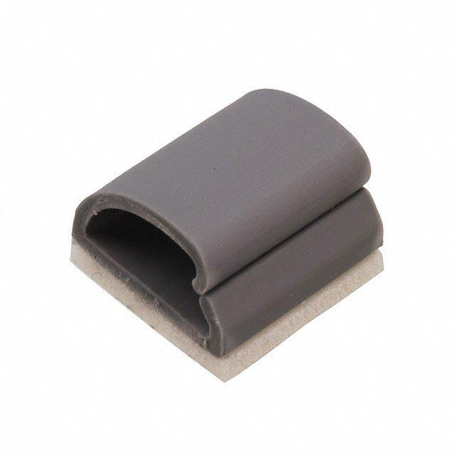 CBL CLIP C-TYPE GRAY ADHESIVE - Essentra Components KKD-4-RT
