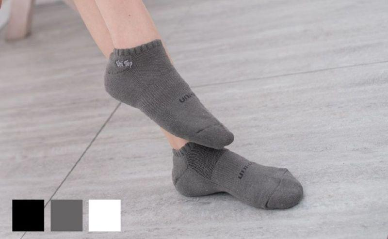 Bamboo charcoal mildew-proof combed low cut cushion socks