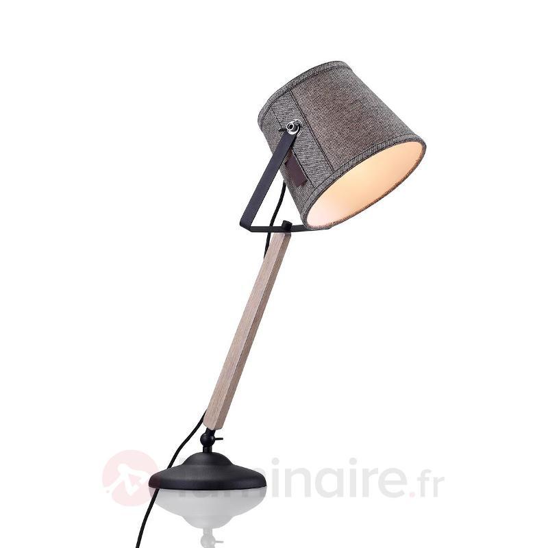 Lampe à poser Legend avec bois - Lampes à poser en bois