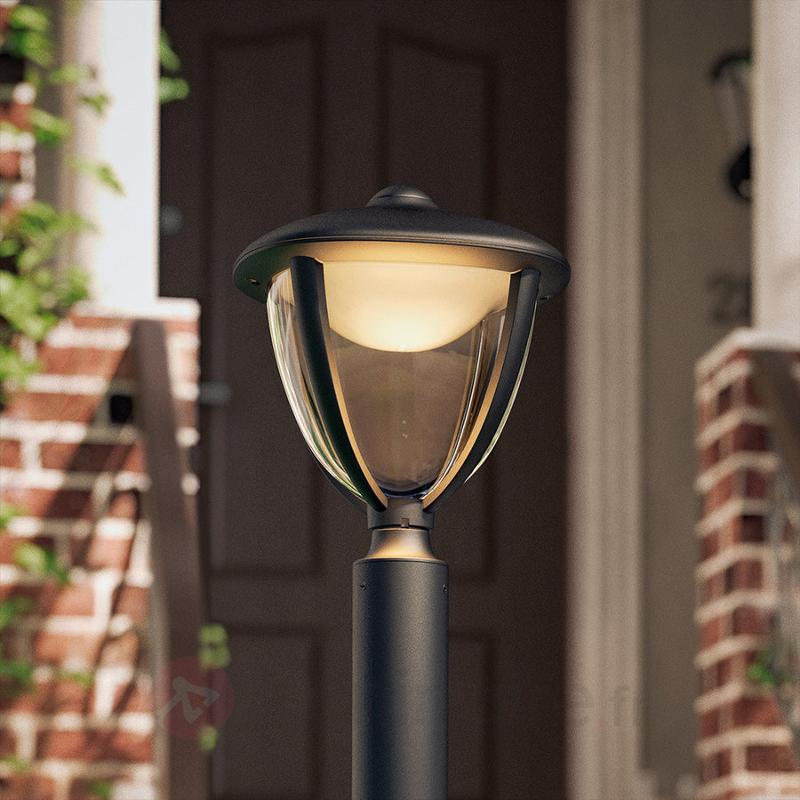 Borne lumineuse LED Robin, noire - Bornes lumineuses LED