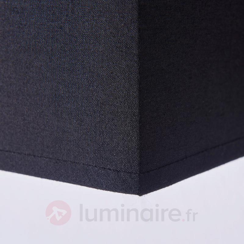 Applique noire en tissu Annalisa, rectangulaire - Appliques en tissu