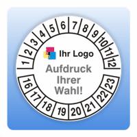 Prüfplakette mit eigenem Logo (mehrfarbig)