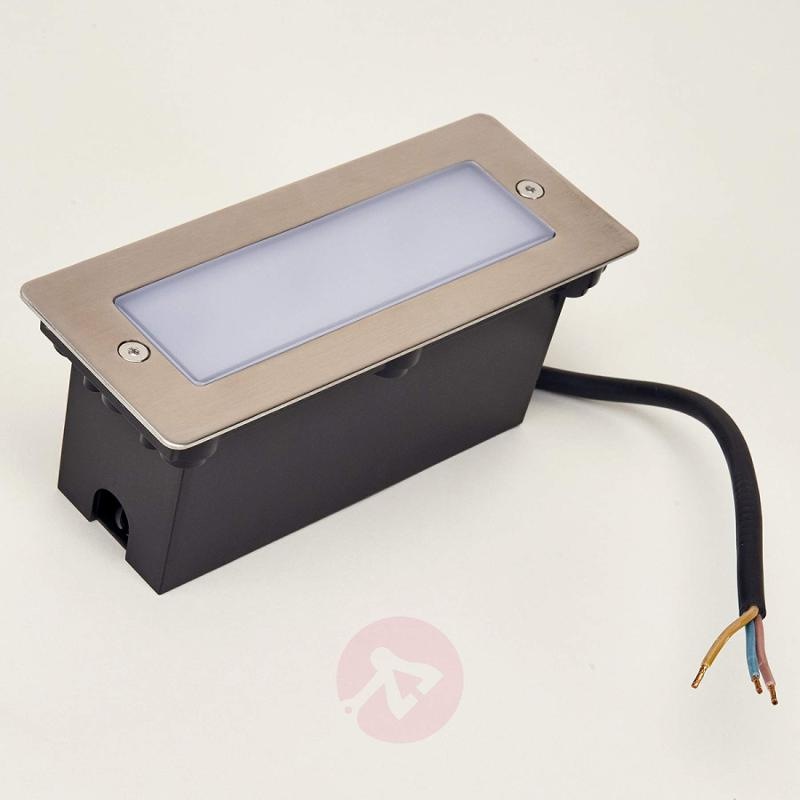 LED installed wall light Holly for outside - stainless-steel-outdoor-wall-lights