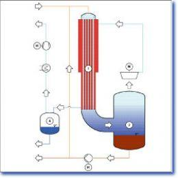 Thermal process engineering Evaporation - Falling-Film Evaporator with Thermal Vapor Compression