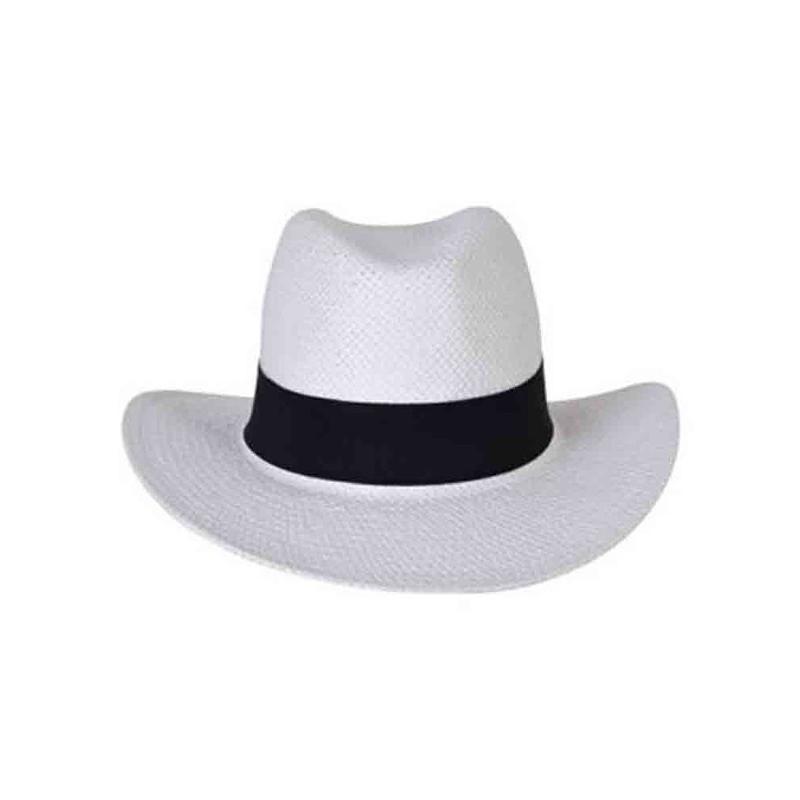 Chapeau borsalino blanc/bleu roi - Chapeaux