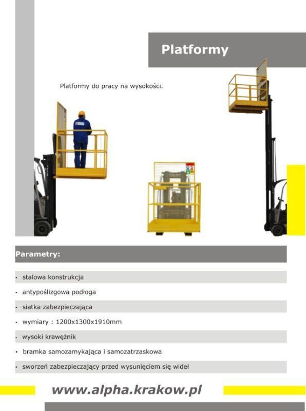 Platforma do pracy na wysokości