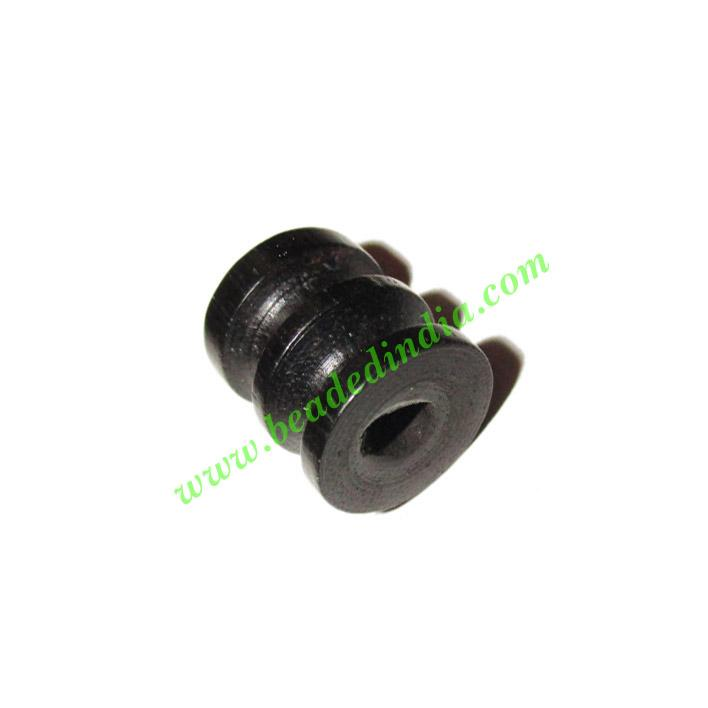 Wooden Ebony Beads, color black, size 13x15mm, weight approx - Wooden Ebony Beads, color black, size 13x15mm, weight approx 1.79 grams