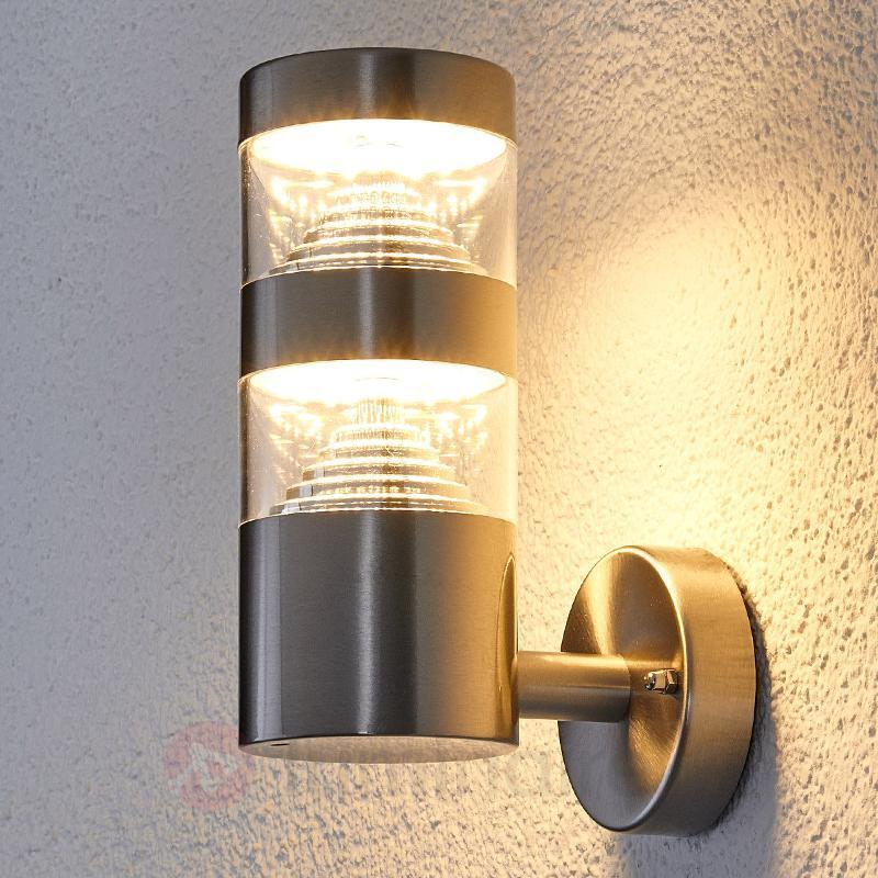 Applique d'extérieur LED Lanea en inox - Appliques d'extérieur LED