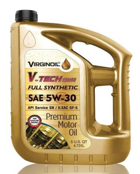 FULL SYNTHETIC OIL / VIRGINOIL SEA5W-30 V-TECH syn  - MOTOR OIL ENGINE OIL