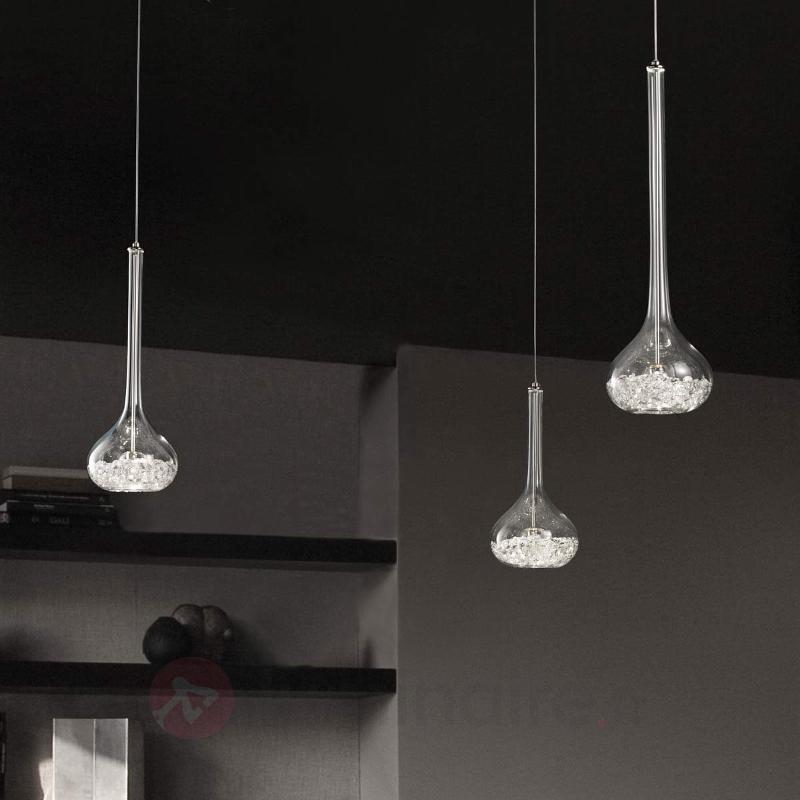 Magnifique suspension à 1 lampe GRAAL - Suspensions en cristal