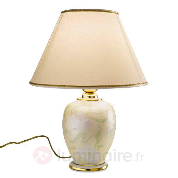 Lampe à poser en céramique Giardino Perla - Lampes à poser en tissu