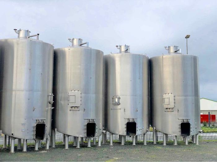 CARTIER - Depósito de acero inoxidable 304 - 350 HL - Fondo inclinado
