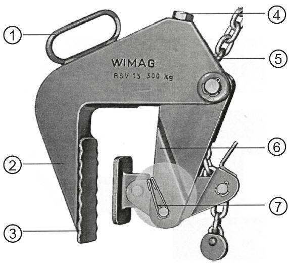 Pinces lève-tuyaux - Pince lève-tuyaux (chambre de visite) WIMAG type RSV