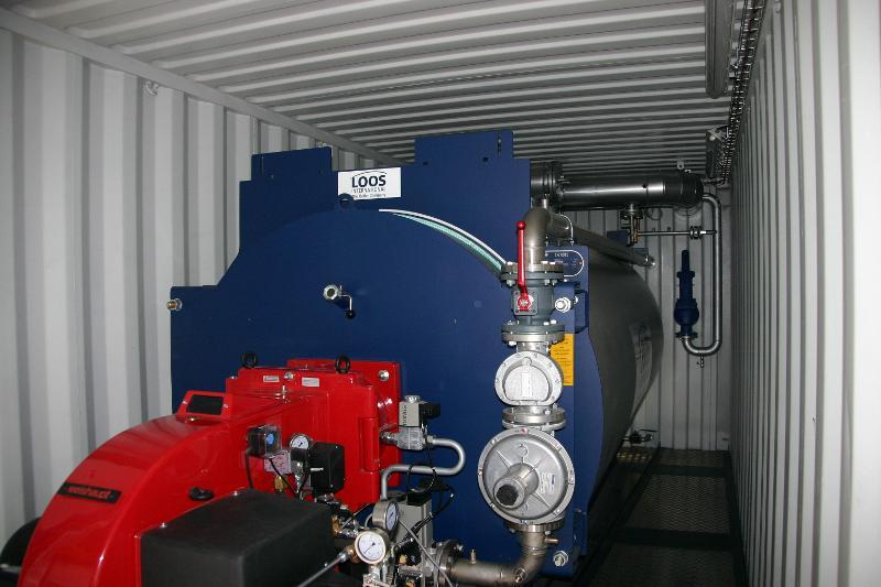 chaudière mobile industrielle - chaudière eau chaude mobiles  3,7MW