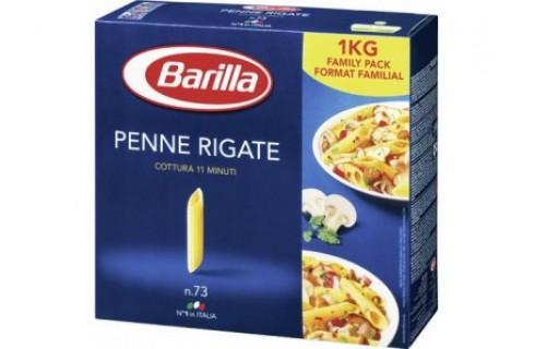 Pâtes penne rigate 1kg - BARILLA - Colis de 15