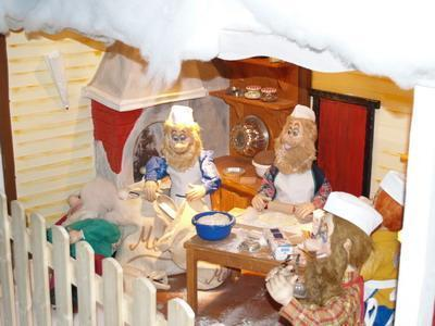 Christmas Bakery in a red house - null