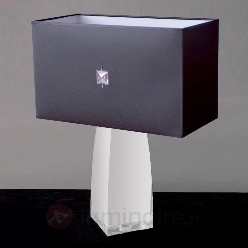 Lampe à poser classique JESSICA cristal opale - Lampes à poser en tissu