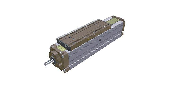 Modline - Linear axis with belt drive. Rolling on trapezoidal, round or recirculating ...