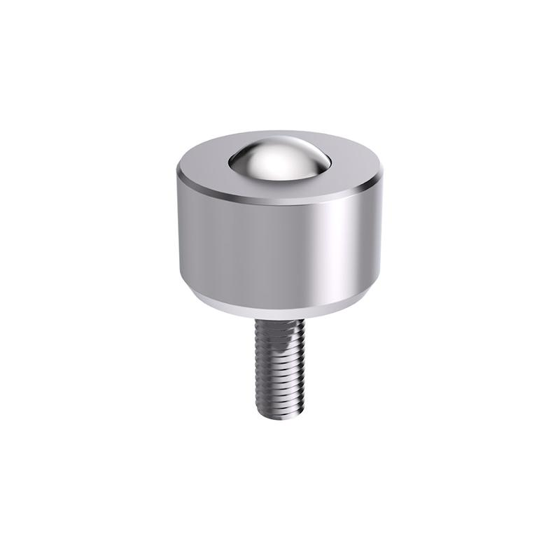 Solid ball caster MINI without collar,threaded pin, cylindrical - null