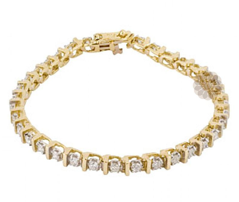 Luminous Gold and Diamond Anklet -