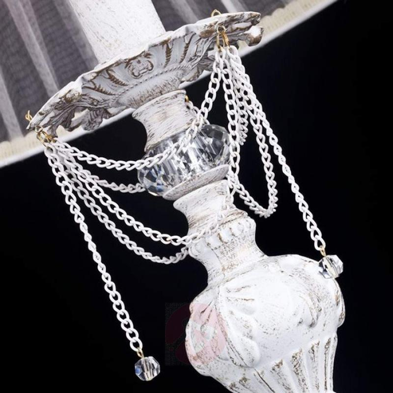 With organza shade - playful table lamp Lolita - design-hotel-lighting