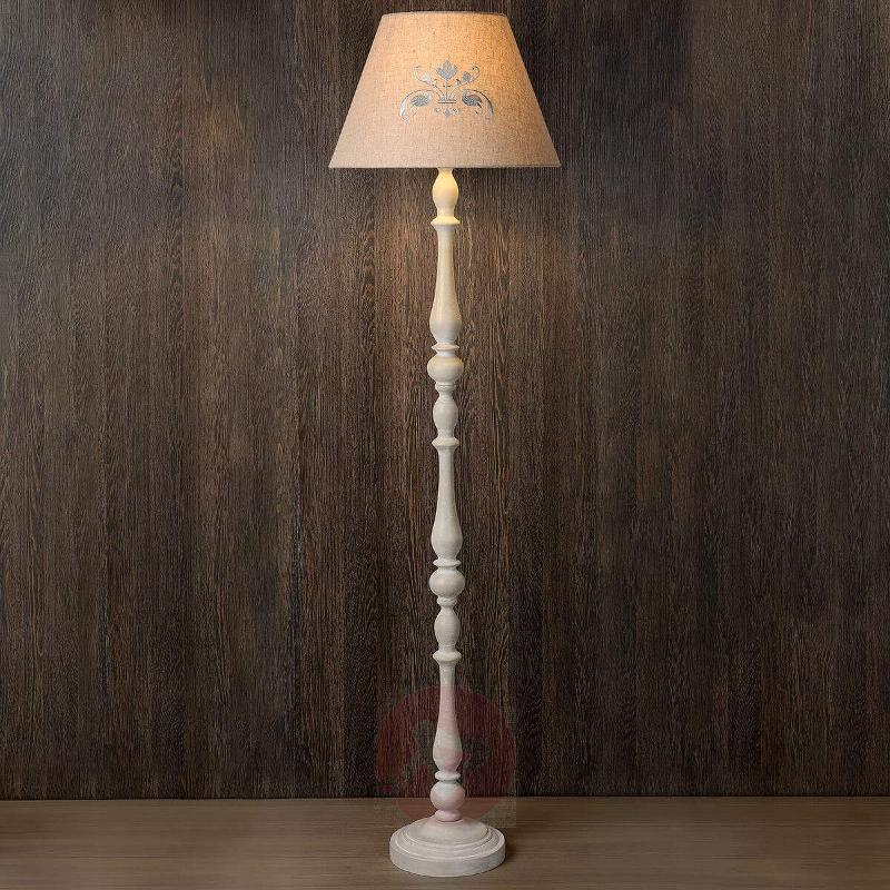 Robin floor lamp with fabric lampshade - Floor Lamps