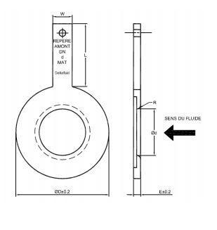 Plaque à orifice - Quart de cercle
