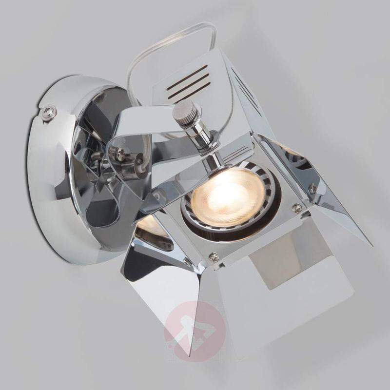 Technical-looking LED wall light Movie - Wall Lights