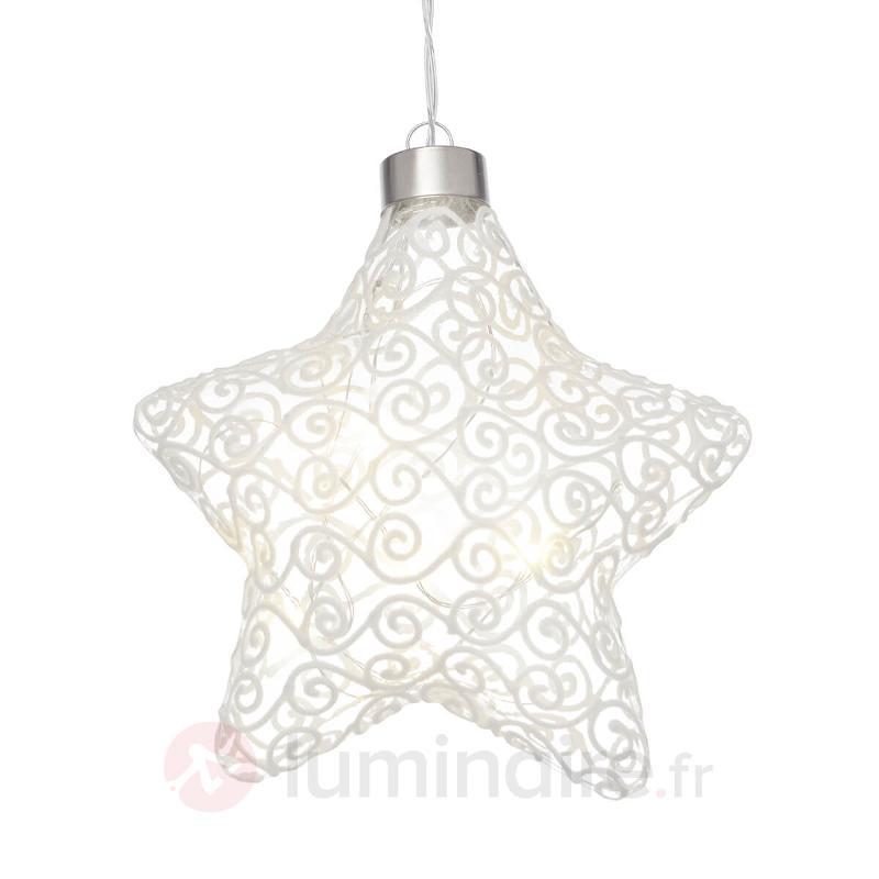 Lampe déco LED Windi étoile avec fonction Timer - Décoration pour rebord de fenêtre