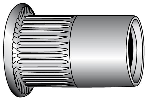Blind rivet nuts, flat head - Material A2 | A4