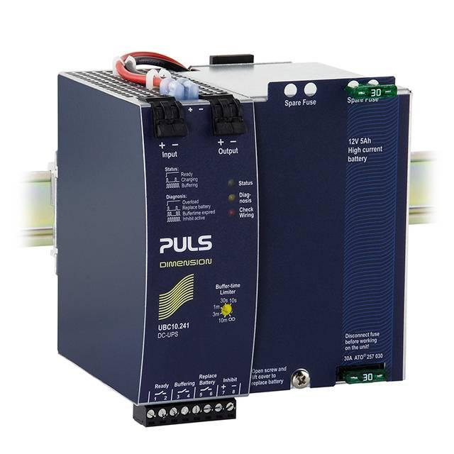 DIN RAIL UPS 24V 10A W/ 5AH BAT - PULS, LP UBC10.241