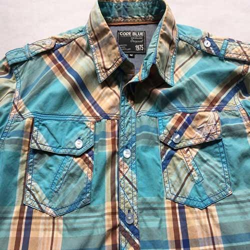 Chemise manches courtes pour hommes -