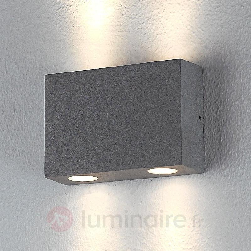Applique d'extérieur carrée Henor à 4 LED - Appliques d'extérieur LED