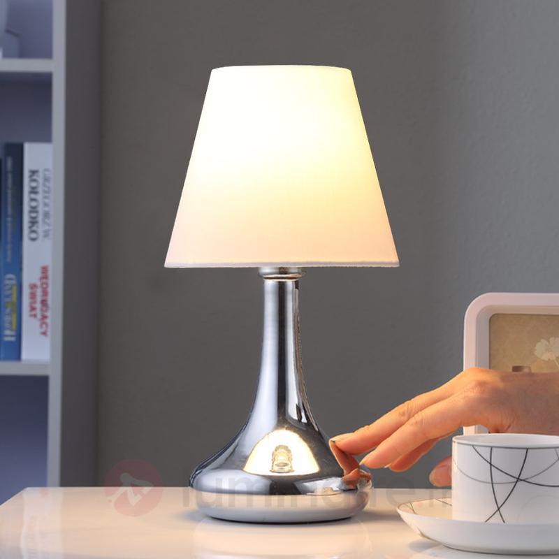 Coquette lampe à poser Marike abat-jour en tissu - Lampes à poser en tissu