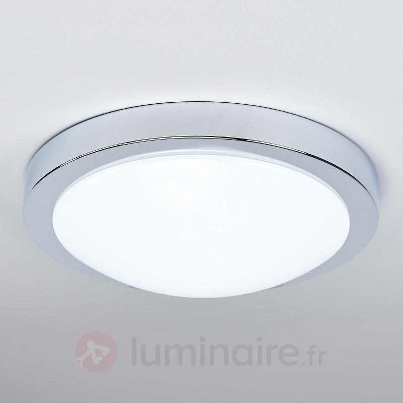 Plafonnier salle de b. LED Aras, détecteur, chromé - Plafonniers avec détecteur