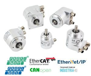 Encoder assoluti con bus di campo - Encoder Profinet, EtherNet/IP, EtherCAT, Profibus, CANopen