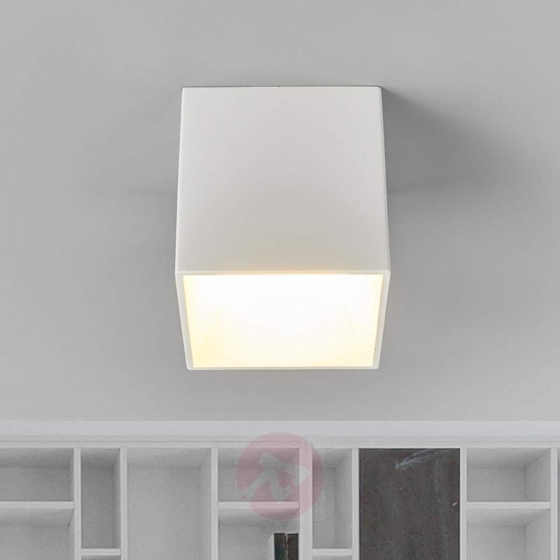 LED plaster ceiling lamp Emia for painting - Ceiling Lights