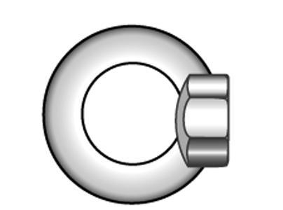 Ringmuttern, gegossene Form - Material A2 | A4