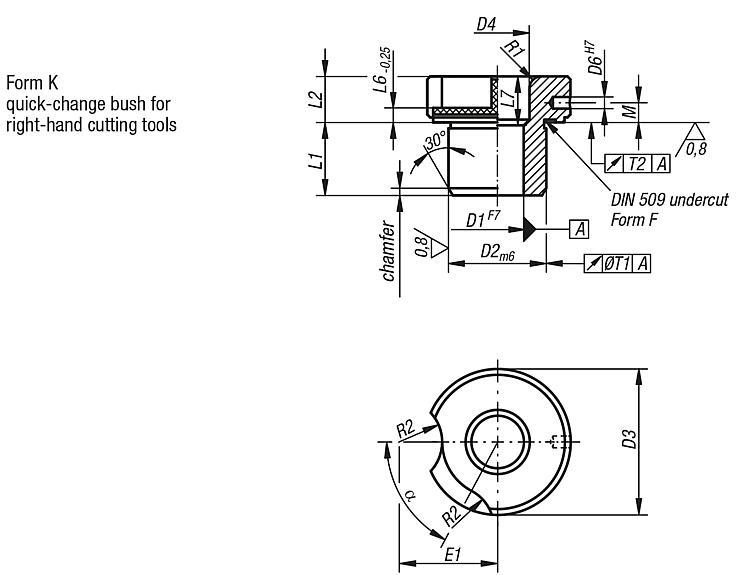Drill Bushes Push-in Din 173-1 - Drilling jigs Drill bushes Jig elements