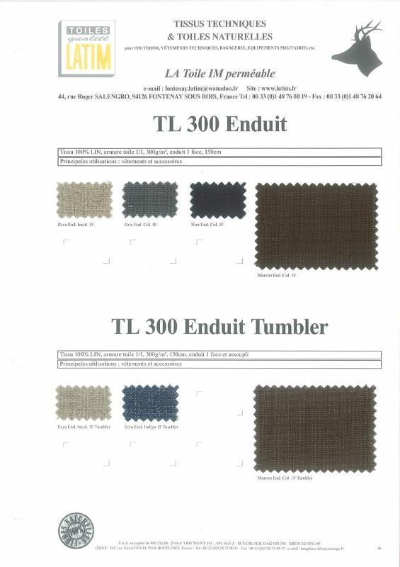 TL 300 Enduit & TL 300 Enduit Tumbler - Toiles naturelles