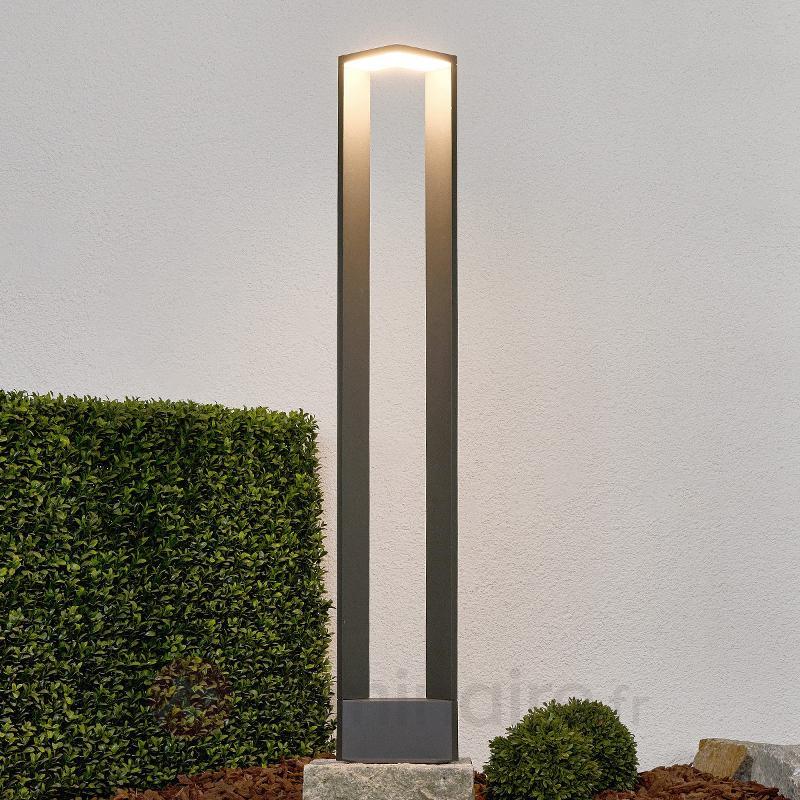 Borne lumineuse LED ultra moderne Jeny gris foncé - Bornes lumineuses LED
