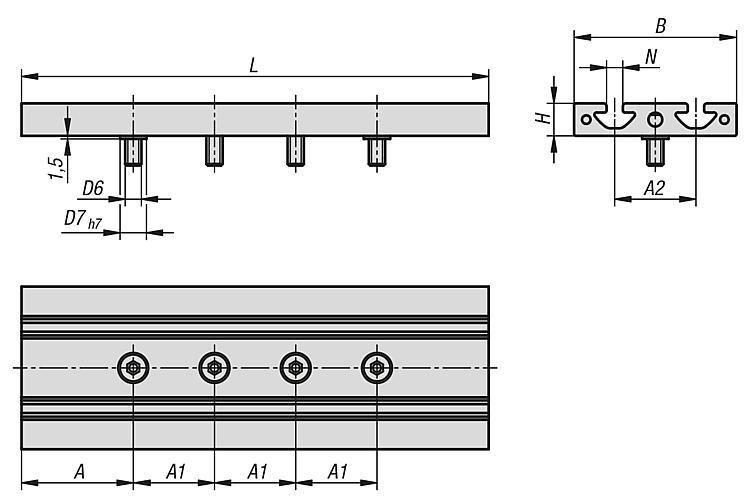 T-slot tables - Linear and gantry modules, electric